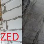TermoPUR - przed i po wykonaniu izolacji natryskowej pianką PUR